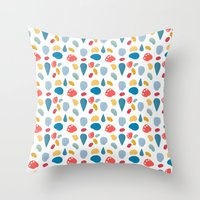 Collage Bits Pattern Throw Pillow