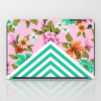 Tropical Floral Chevron iPad Case