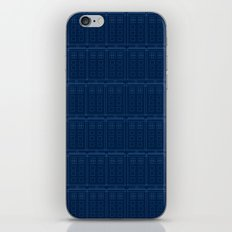 TARDIS Blueprint Pattern - Doctor Who iPhone & iPod Skin
