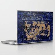 Textures In Blue Laptop & iPad Skin