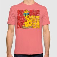 Nobody Owns Pizza! Mens Fitted Tee Pomegranate SMALL