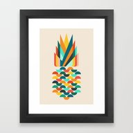 Groovy Pineapple Framed Art Print