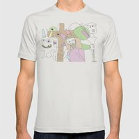 Funland 3 Mens Fitted Tee Silver SMALL