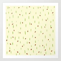 Ladybird invasion Art Print