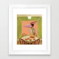 green & yellow Framed Art Print