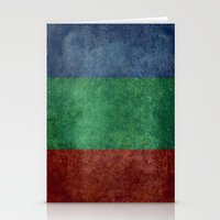 The flag of the planet Mars Stationery Cards