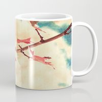 Autumn (Leafs in a textured and abstract sky) Mug
