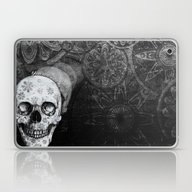 Not Here Floral Skull Laptop & iPad Skin