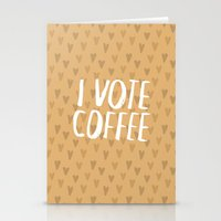 I Vote Coffee Stationery Cards