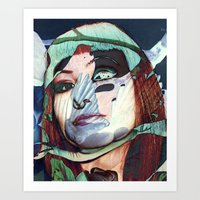 ELISA_GLITCH_IN THE SKY MIT MELANCHOLIE_ Art Print