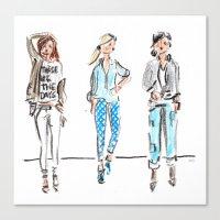 JCrew Trio Canvas Print
