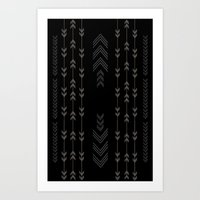 Headlands Arrows Black Art Print