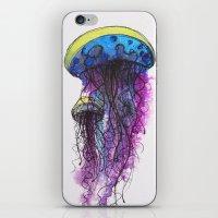 Sketchy Jellyfish iPhone & iPod Skin