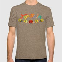 Top Spin Mens Fitted Tee Tri-Coffee SMALL