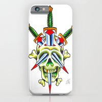 iPhone & iPod Case featuring Skull & Dagger by Tilden Art