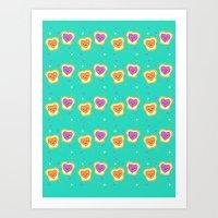 Sweet Lovers - Pattern Art Print