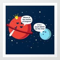 Dwarf Planet Art Print