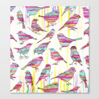 Birds Seen Rainbow Canvas Print