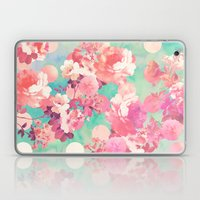 Romantic Pink Retro Flor… Laptop & iPad Skin
