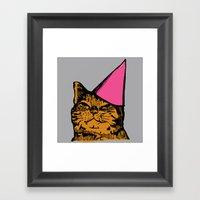 Party Cat Framed Art Print