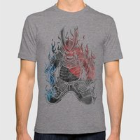 Samurai  Mens Fitted Tee Tri-Grey SMALL