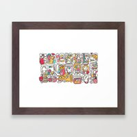 The Mayan Message Framed Art Print