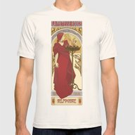 The Red Priestess Mens Fitted Tee Natural SMALL
