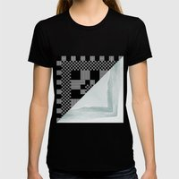 waves/grid #9 Womens Fitted Tee Black SMALL