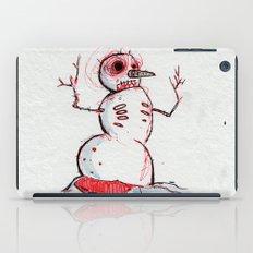 Snowman Zombie of the winter apocalypse iPad Case