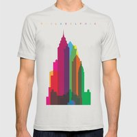 Shapes Of Philadelphia A… Mens Fitted Tee Silver SMALL