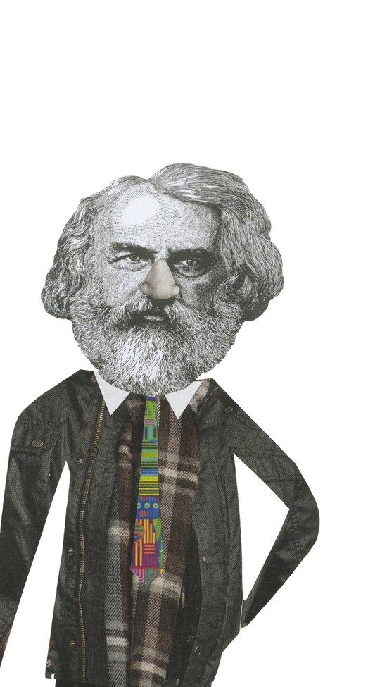 Mr Moody pants Art Print