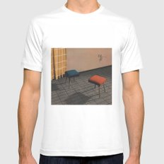 Dialog 7 Mens Fitted Tee White SMALL
