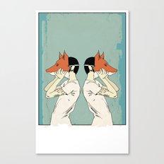 Foxes Print take 2 Canvas Print