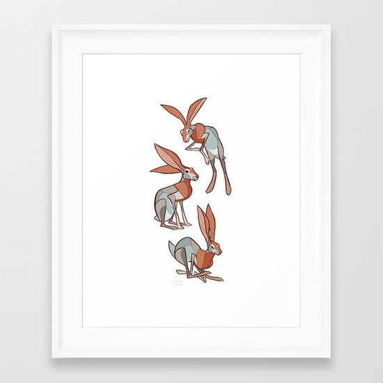Jackrabbit Framed Art Print