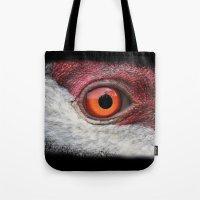 Eye Of The Sandhill Crane Tote Bag
