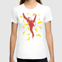 Monkey Business Womens Fitted Tee White SMALL