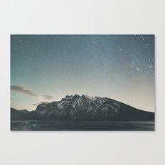 Stars over Minnewanka  Canvas Print