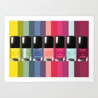 C-H-A-N-E-L Designer Nail Polish Print Art Print