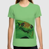 rana del madagascar Womens Fitted Tee Grass SMALL