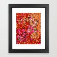 Lila pattern Framed Art Print