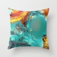 Mineral Series - Rosasite Throw Pillow