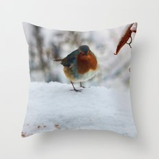 PHOTOGRAPHY-Robin Redbreast Throw Pillow