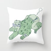 wazmunster poot poot  Throw Pillow