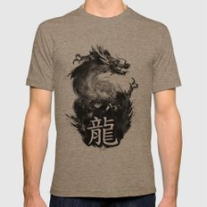 Dragon Mens Fitted Tee Tri-Coffee SMALL
