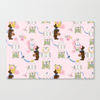 Easter Bunny Factory Canvas Print