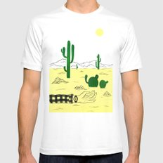 Man & Nature - The Desert SMALL Mens Fitted Tee White