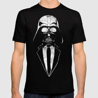 Darth Vader Gentleman Mens Fitted Tee Black SMALL