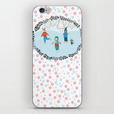 Ice Skating Animals iPhone & iPod Skin