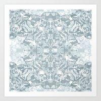 Lace Geometric // Kaleid… Art Print