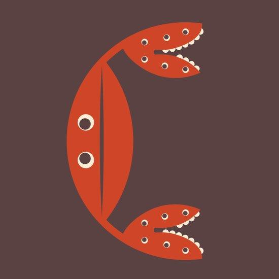 Letter C // Animal Alphabet // Crab Canvas Print